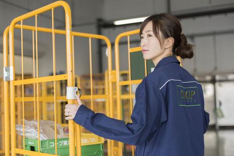 早朝4時間のみ!出発前の配送トラックへ商品等を積み込みする作業幅広い年代の方が働いています。